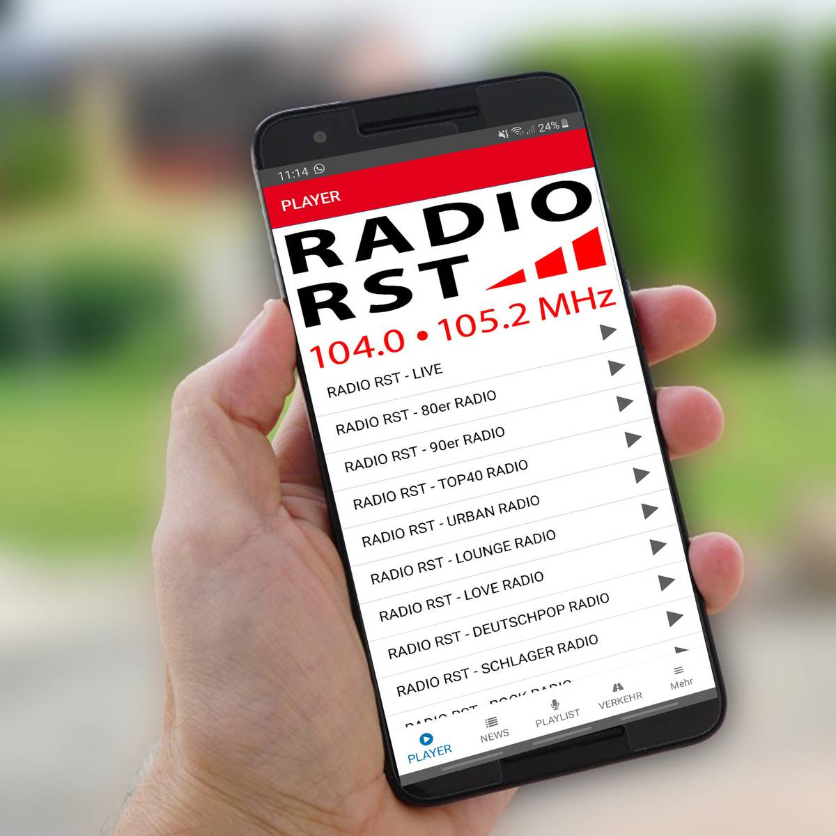 Neue Radio App